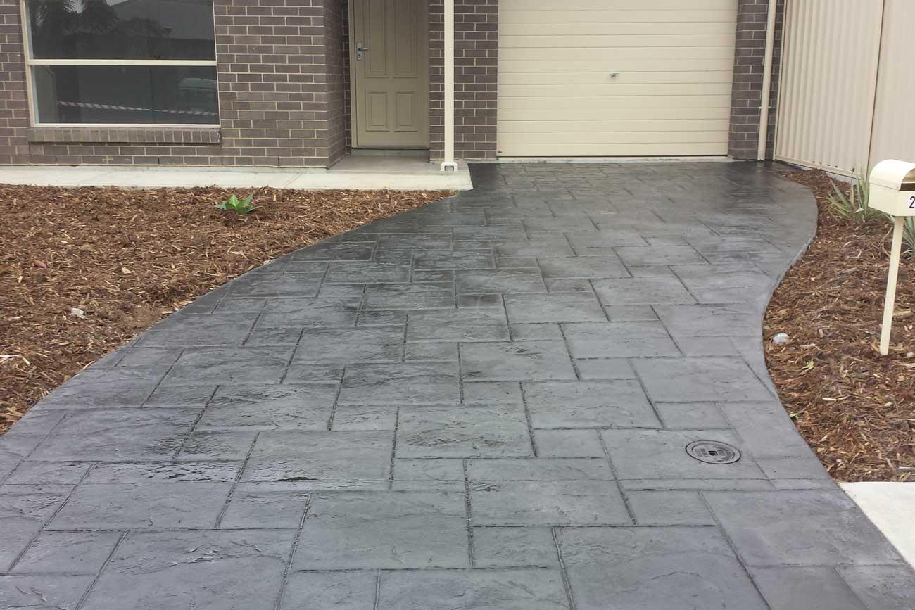 Slate finish - Stamped Concrete