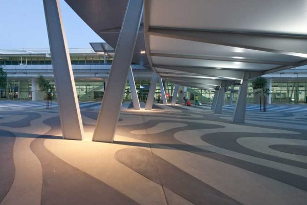 Adelaide Airport Plaza Exposed Aggregate Concrete