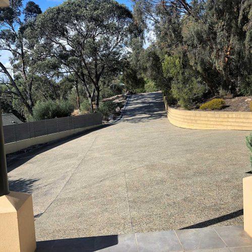 Custom Range - Exposed Aggregate Concrete