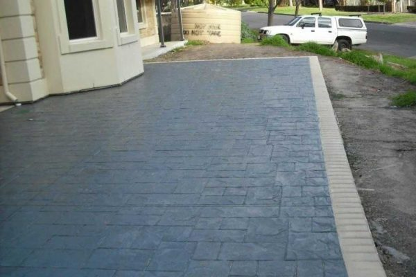 Slate finish - Stamped Concrete